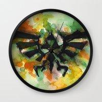 triforce Wall Clocks featuring Triforce by Fernanda Frasson