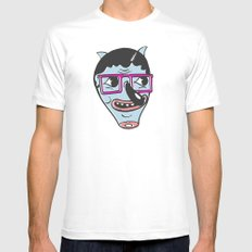 ohai! print MEDIUM Mens Fitted Tee White