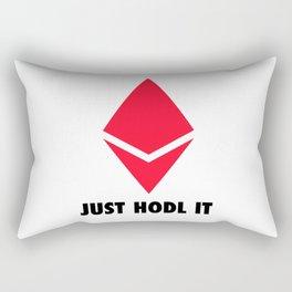 Just Hodl It Ethereum Edition Rectangular Pillow
