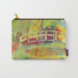 Monet's Bridge- color Carry-All Pouch