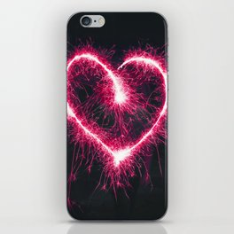 Firework Heart (Color) iPhone Skin