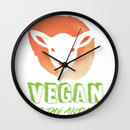 Vegan for the Animals Wall Clock