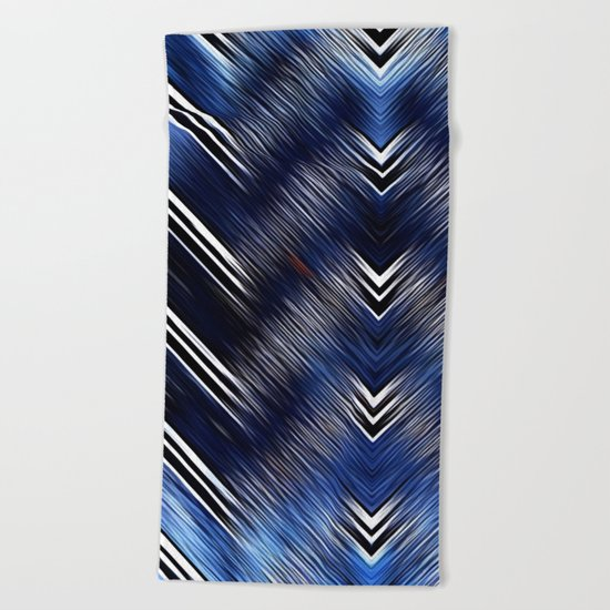 Abstract #Blue #Black #1 #art #society6 Beach Towel