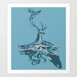 Interconnected Art Print