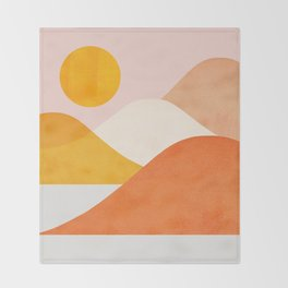 Abstraction_Mountains_Minimalism_001 Throw Blanket