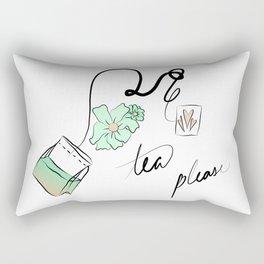 tea but green Rectangular Pillow