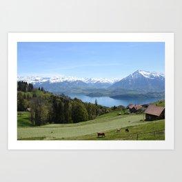 Lake Thun Bernese Oberland Switzerland Art Print