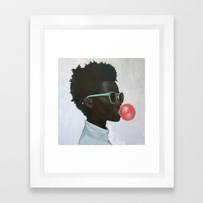 How far is a light year? Framed Art Print