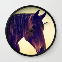 Western horse in porträit Wall Clock