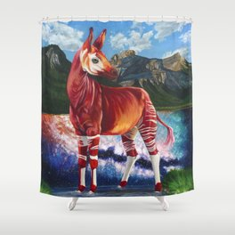 A Ravenous Fortification Shower Curtain