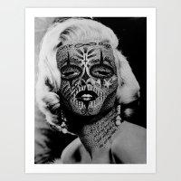 monroe Art Prints featuring Monroe by mothafuc