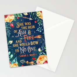 Ash & Fire Stationery Cards