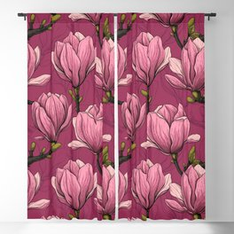 Magnolia garden Blackout Curtain