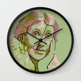 Virginia Woolf Wall Clock