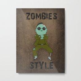 zombies style Metal Print