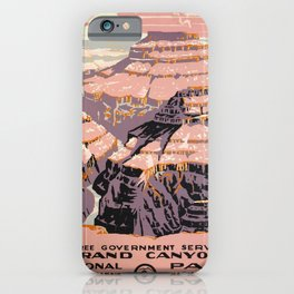WPA vintage Travel poster - Grand Canyon - National Park Service iPhone Case