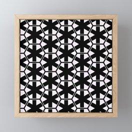 Multi Pattern Black and White Design Framed Mini Art Print