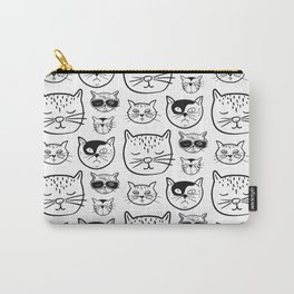 Cartoonish Cat Pattern Design Carry-All Pouch