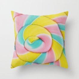 Rainbow Lollipop Throw Pillow