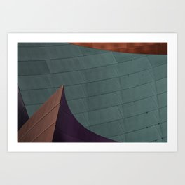 Architectural abstract of the home of the LA Philharmonic. Architect: Frank Gehry Art Print
