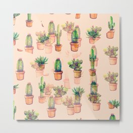 cactus ilusion Metal Print