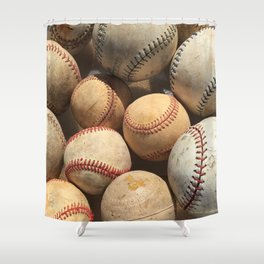 Baseball Obsession Shower Curtain