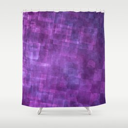 Abstract Purple Squares Digital Painting Shower Curtain
