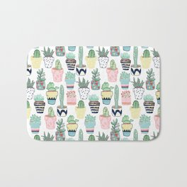 Cute Cacti in Pots Bath Mat