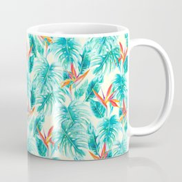Tropical Paradise Pale Yellow Coffee Mug