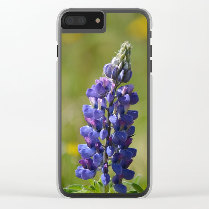 Nootka Lupine Clear iPhone Case