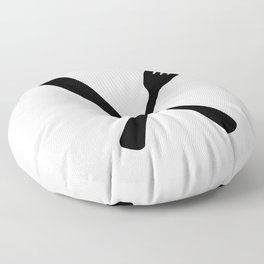 Knife And Fork Floor Pillow