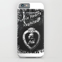 """Purple Hearts Reunited"" by Dark Mountain Arts iPhone Case"