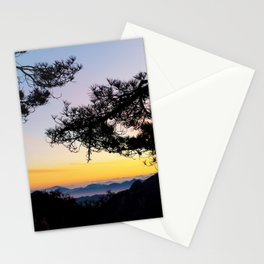Sunrise on the Huangshan Yellow Mountain Stationery Cards