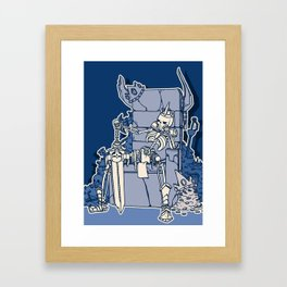 The Skeleton King Framed Art Print