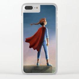 Super Girl Clear iPhone Case