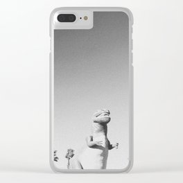 RAWR / Cabazon Dinosaurs, California Clear iPhone Case