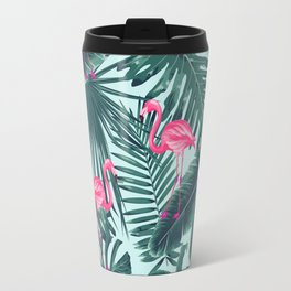 tropical pink flamingo Travel Mug