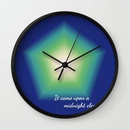 It came upon a midnight clear . . . Wall Clock