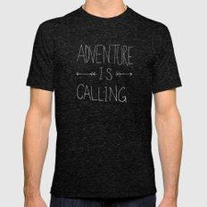 Adventure Island MEDIUM Tri-Black Mens Fitted Tee