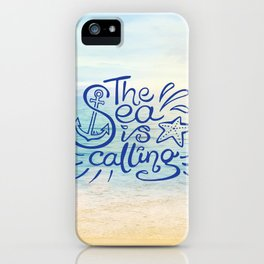 The Sea is Calling iPhone Case