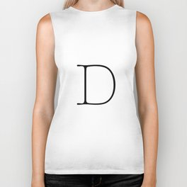 Letter D Typewriting Biker Tank