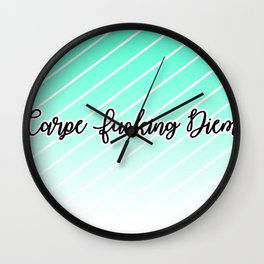 Care Diem Wall Clock