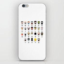 Horror Movies Alphabet iPhone Skin