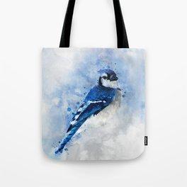 Watercolour blue jay bird Tote Bag