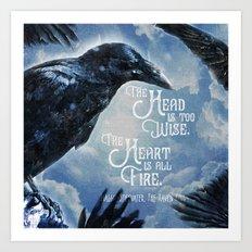 The Raven King - All Fire Art Print
