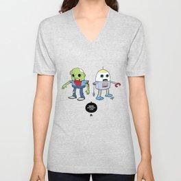 Zombie+Bot Unisex V-Neck