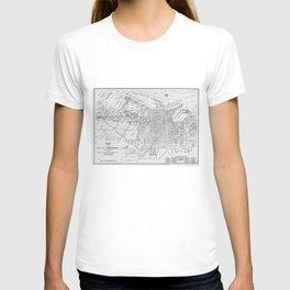 Vintage Map of Savannah Georgia (1910) T-shirt