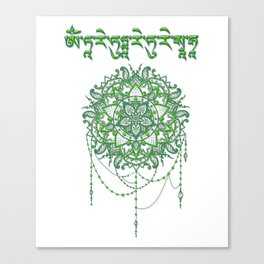 Mantra of the Green Tara Canvas Print