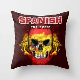 To The Core Collection: Spain Throw Pillow