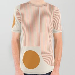 Abstraction_SUN_LINE_ART_Minimalism_002 All Over Graphic Tee